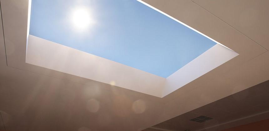 Giếng trời mang lại ánh sáng tự nhiên cho công trình