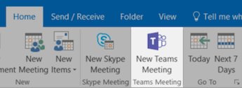 Microsoft Teams Meeting button in Outlook