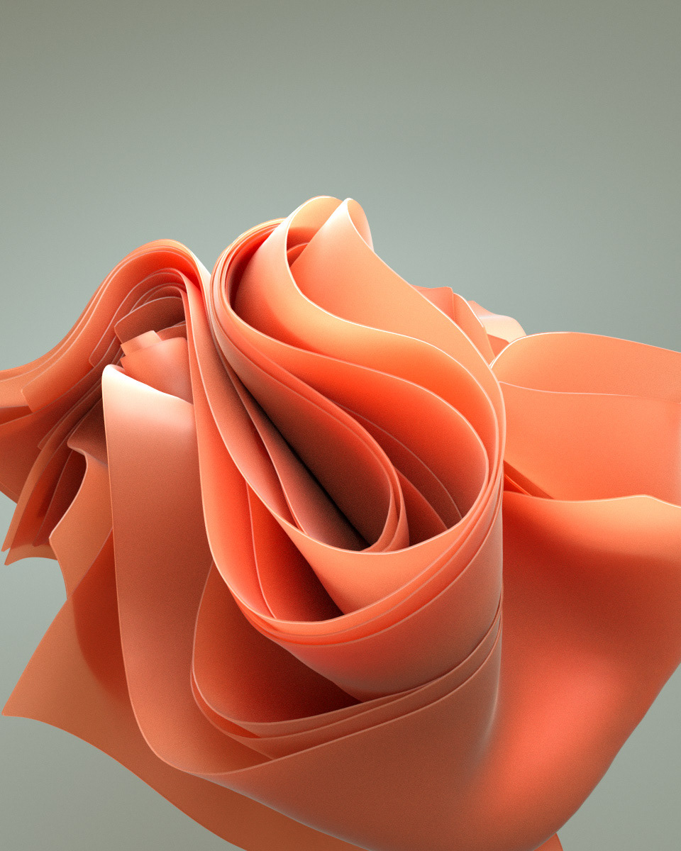 3D abstract animation  cloth design graphic motion octane Render WINDOWS11