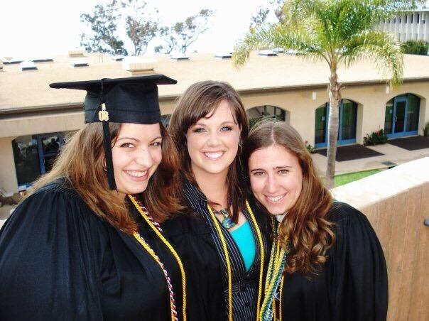 Bethany at her graduating from PLNU