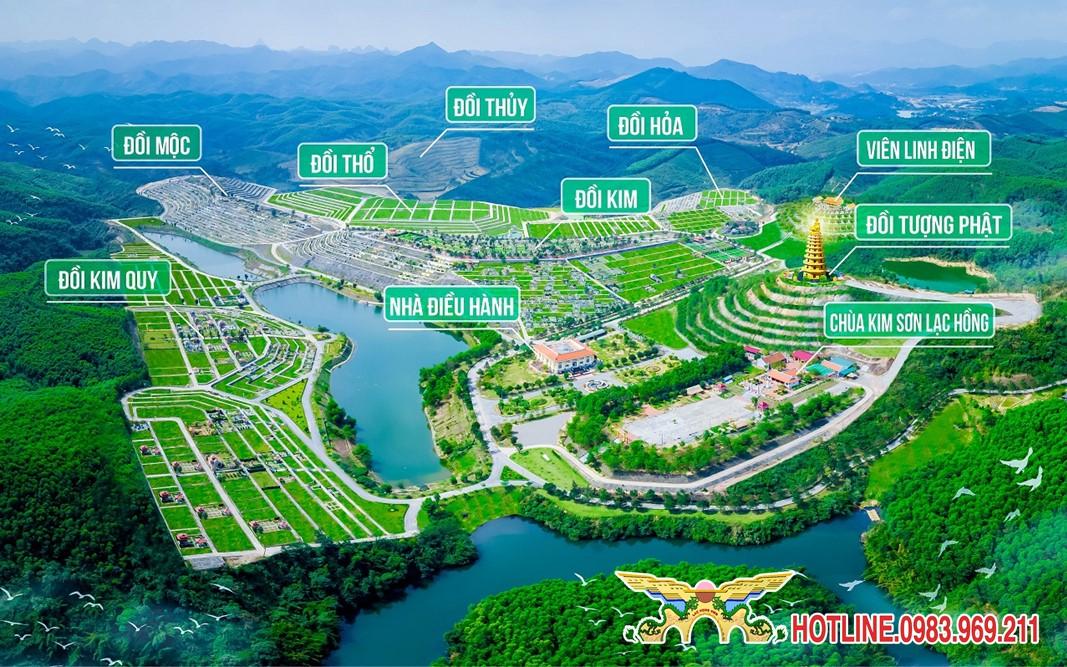5 khu đồi ngũ hành của công viên nghĩa trang Lạc Hồng Viên