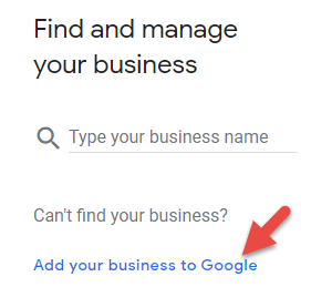 Find and manage your Google My Business listing