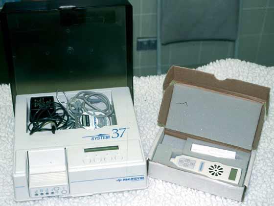 Uterine monitoring equipment (monitor, recorder, modem) and hand held doppler.