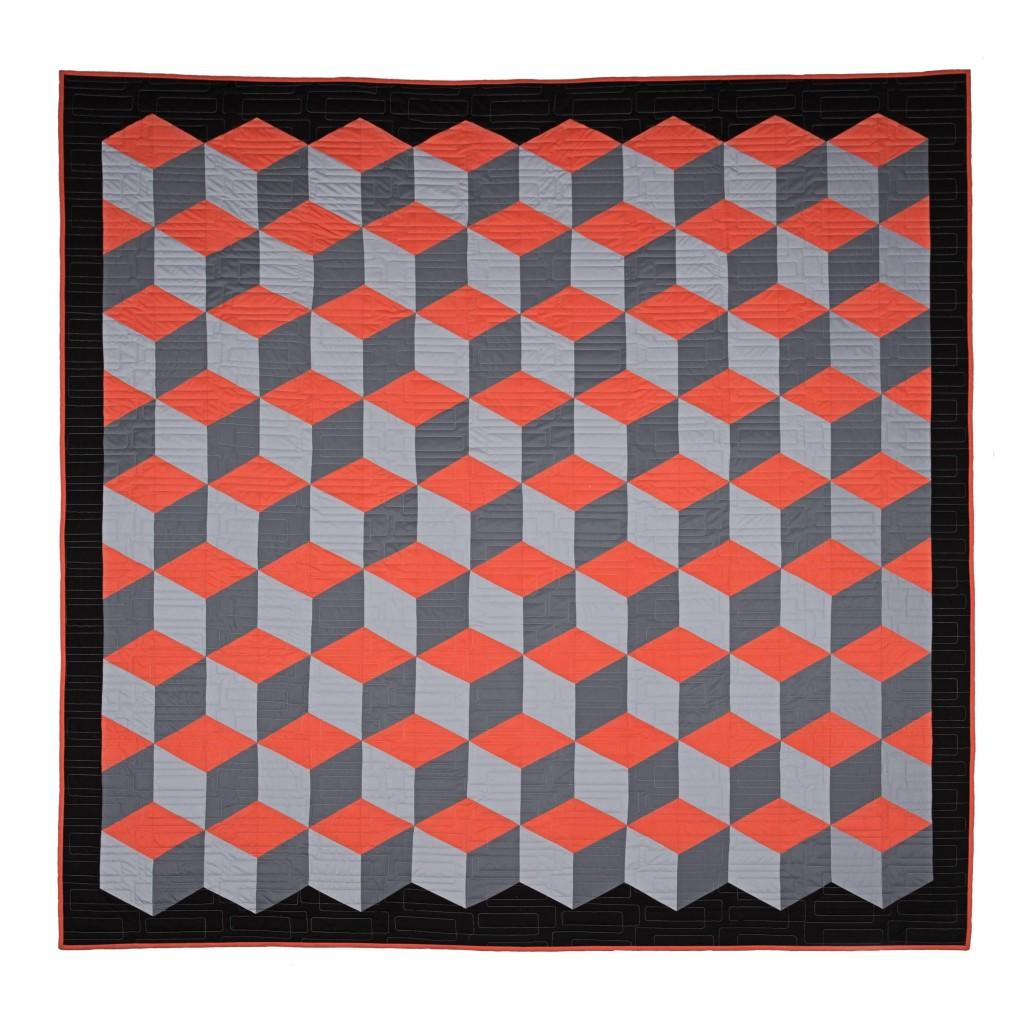 Make a Rhombus Cube Quilt with No Y Seams! Free Video Tutorial with Jenny Doan!