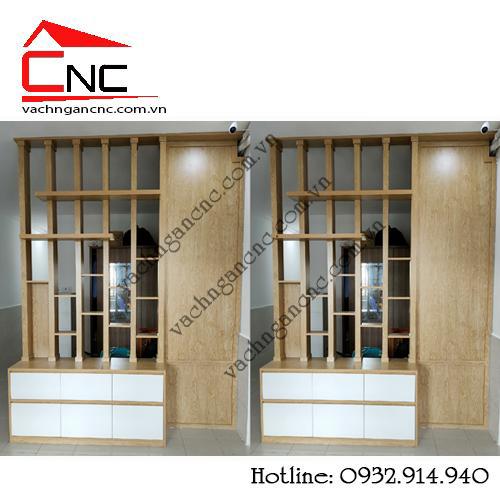Thiết kế mẫu lam gỗ mdf đẹp trang trí phòng khách 2021