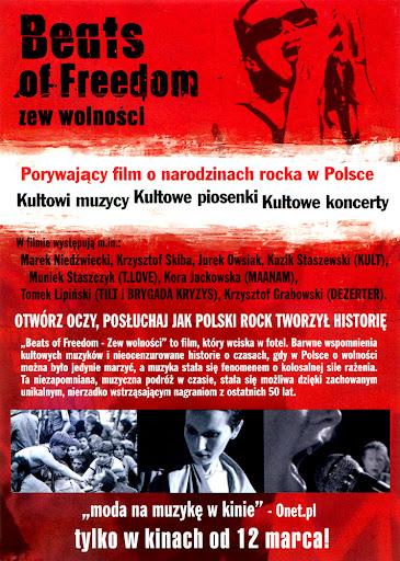Tył ulotki filmu 'Beats Of Freedom - Zew Wolności'