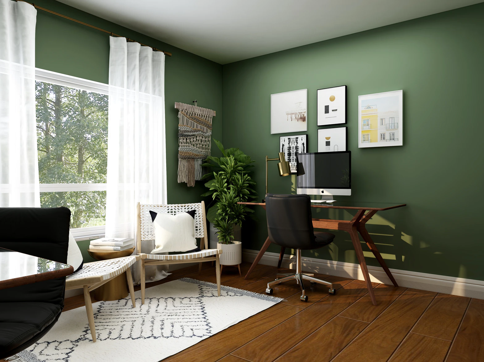 Wallpaper, interior design, design ideas, staging a home