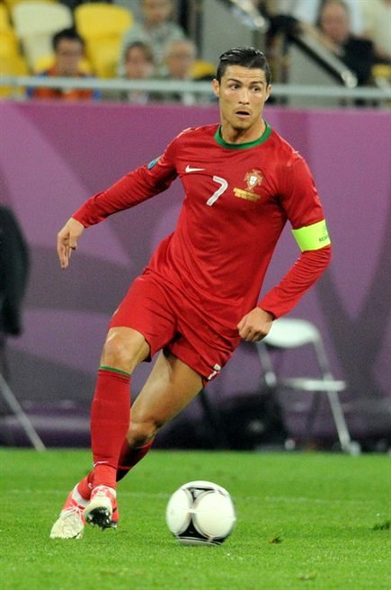 Ronaldo, pictured playing ...