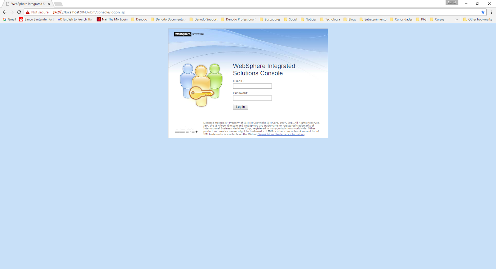 How to connect to Denodo Virtual DataPort from IBM Websphere
