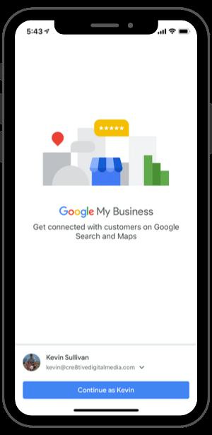 Google My Business-iPhone App