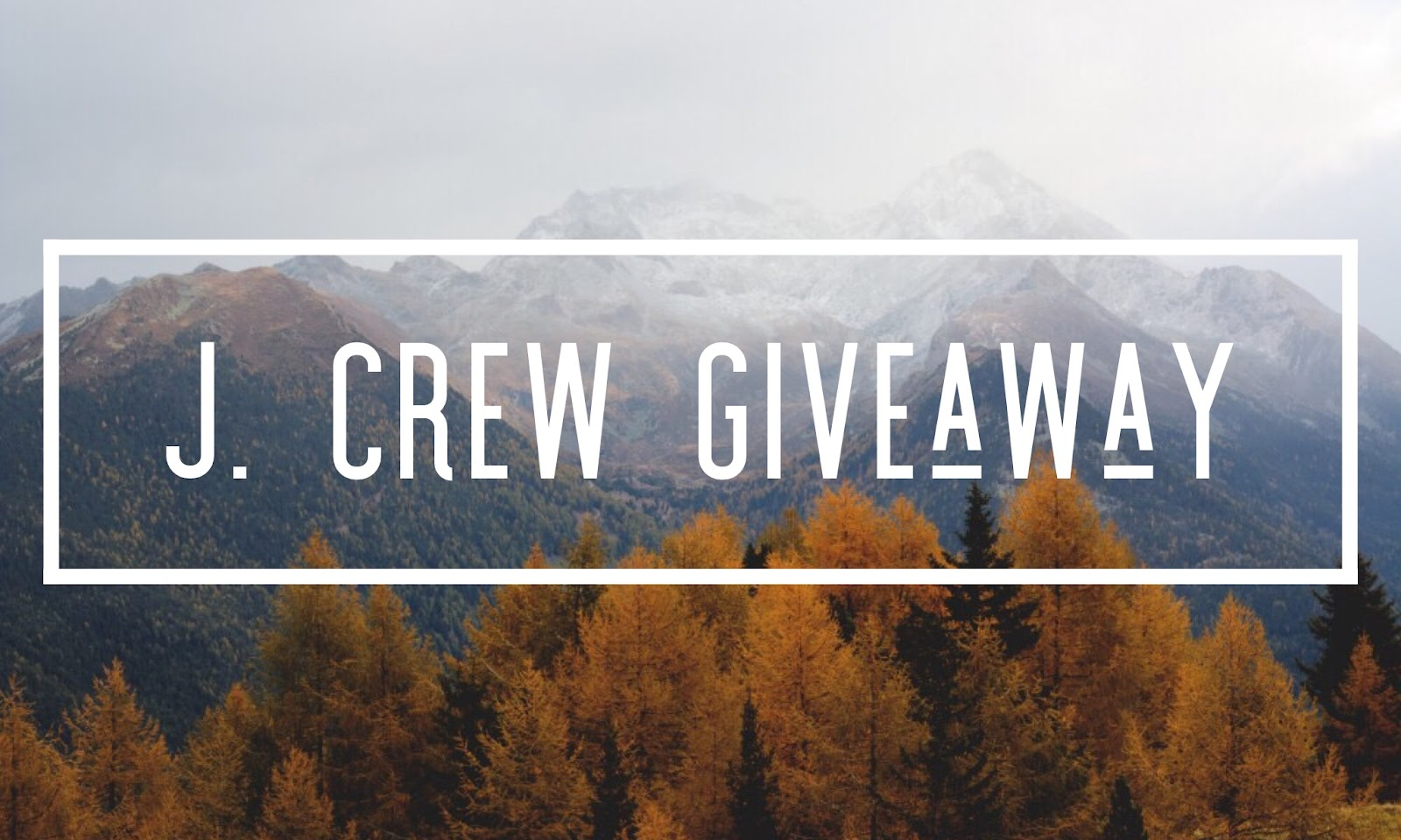 $100 J. Crew Gift Card Giveaway