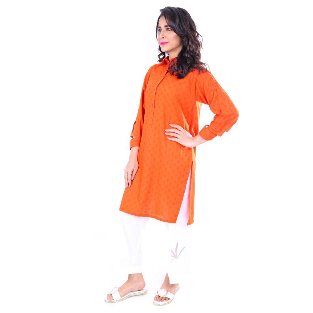 Rust 1 Pc Jacquard Shirt GLS-18-155