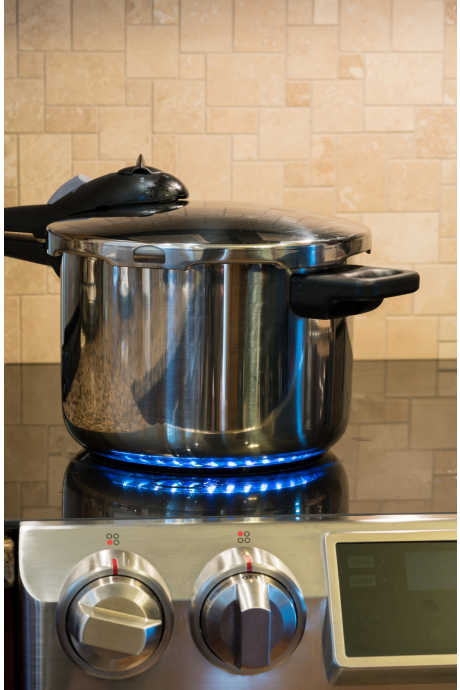 Stovetop pressure cookers generate more pressure than electric ones: An electric pressure cooker reaches 9-12 psi versus a stovetop cooker at 15 psi.