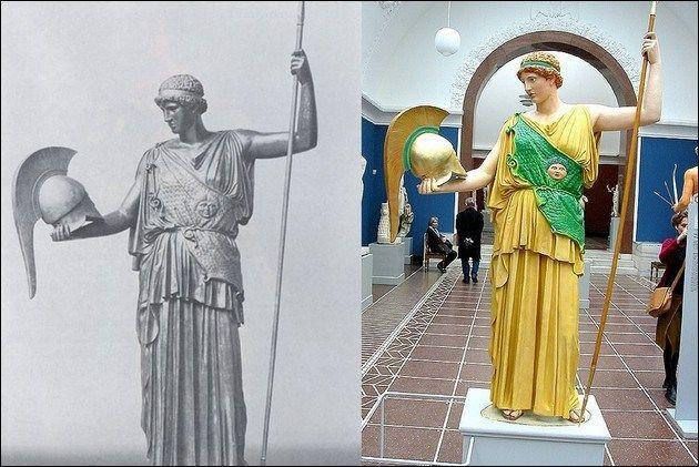 True Colors of Ancient Greek and Roman Statues | moco-choco | Roman statue, Ancient  greek clothing, Greek statues