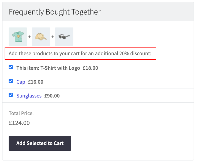 add selected to cart WooCommerce