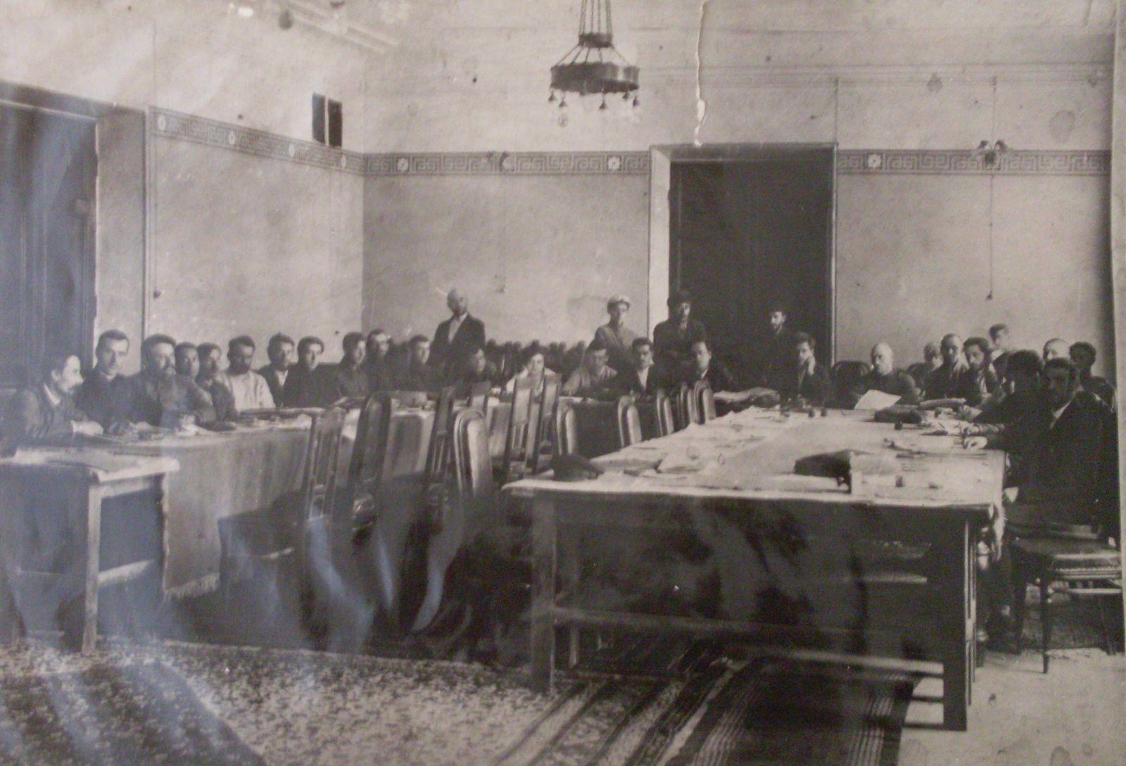 Засідання президії Харківського губвиконкому у 1920 році
