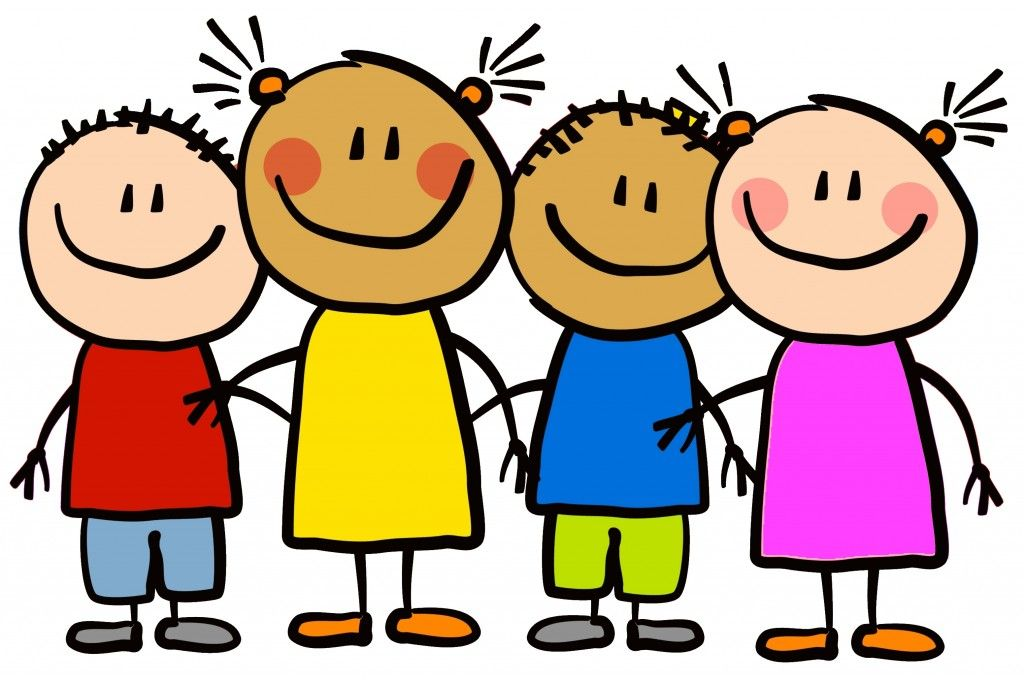 Cartoon image of first grade students