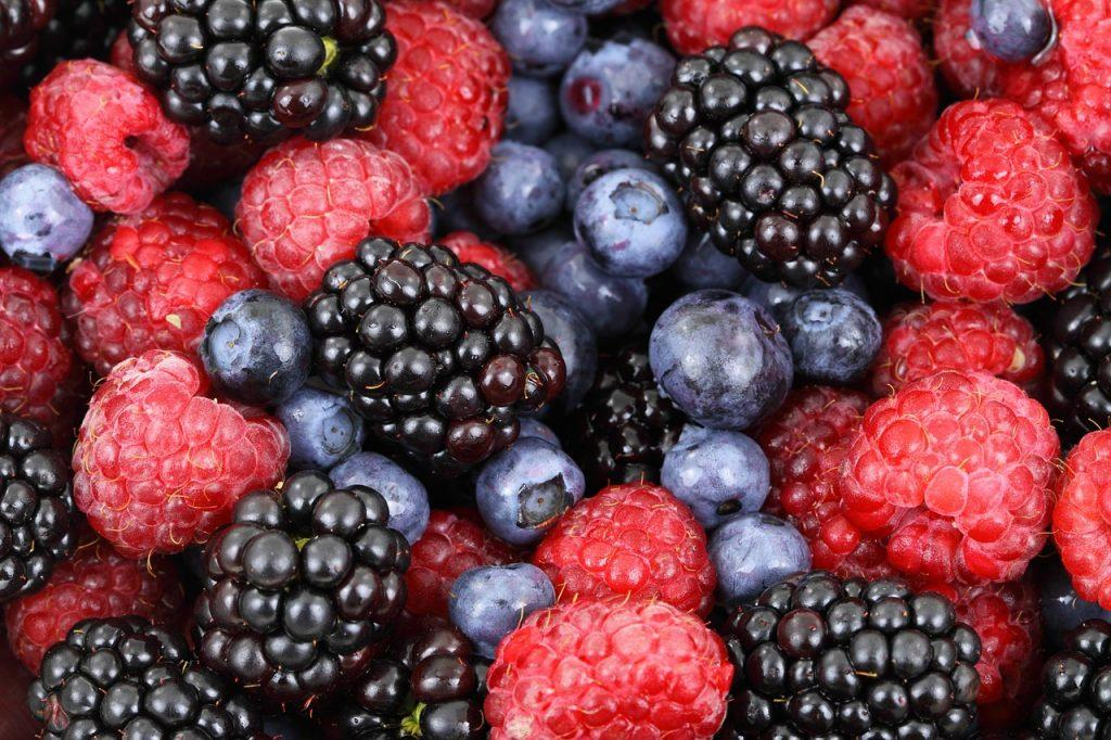 You can see a bowl of fruit which represents the results of hard work.