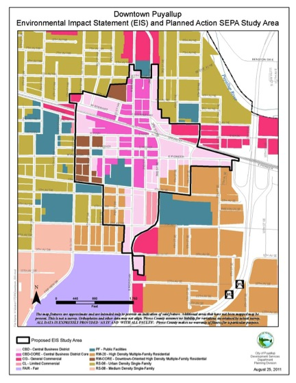 Downtown Puyallup Environmental Impact Statement (EIS) Study Area And Planned Action SEPA Area