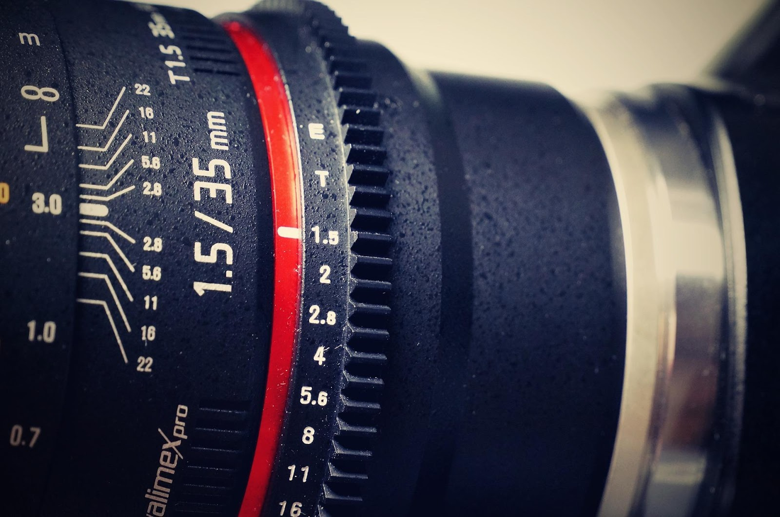 detail shot of numbers on photography lens