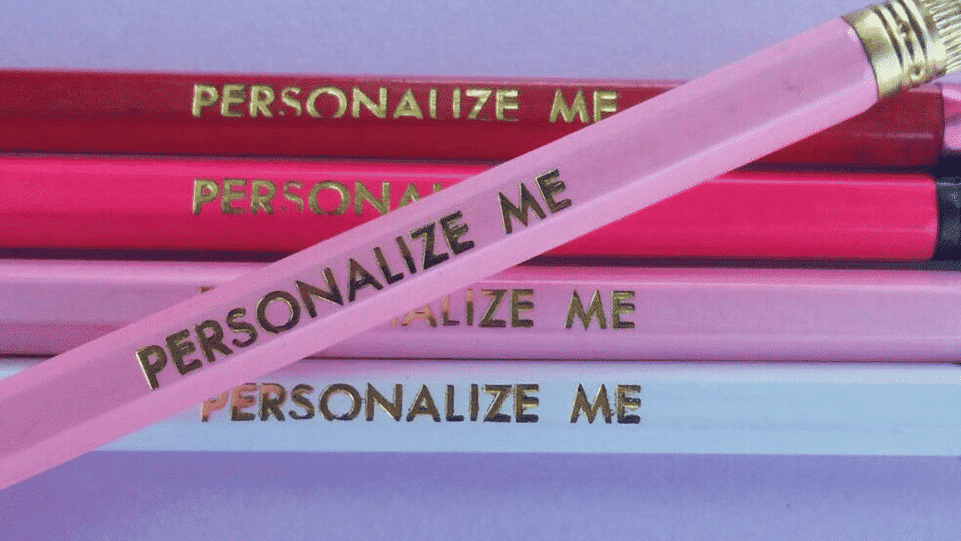 personalized pencils are a great kindergarten gift