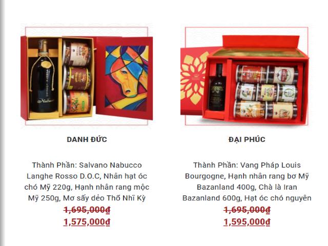 Giá hộp quà tết bao nhiêu tiền?