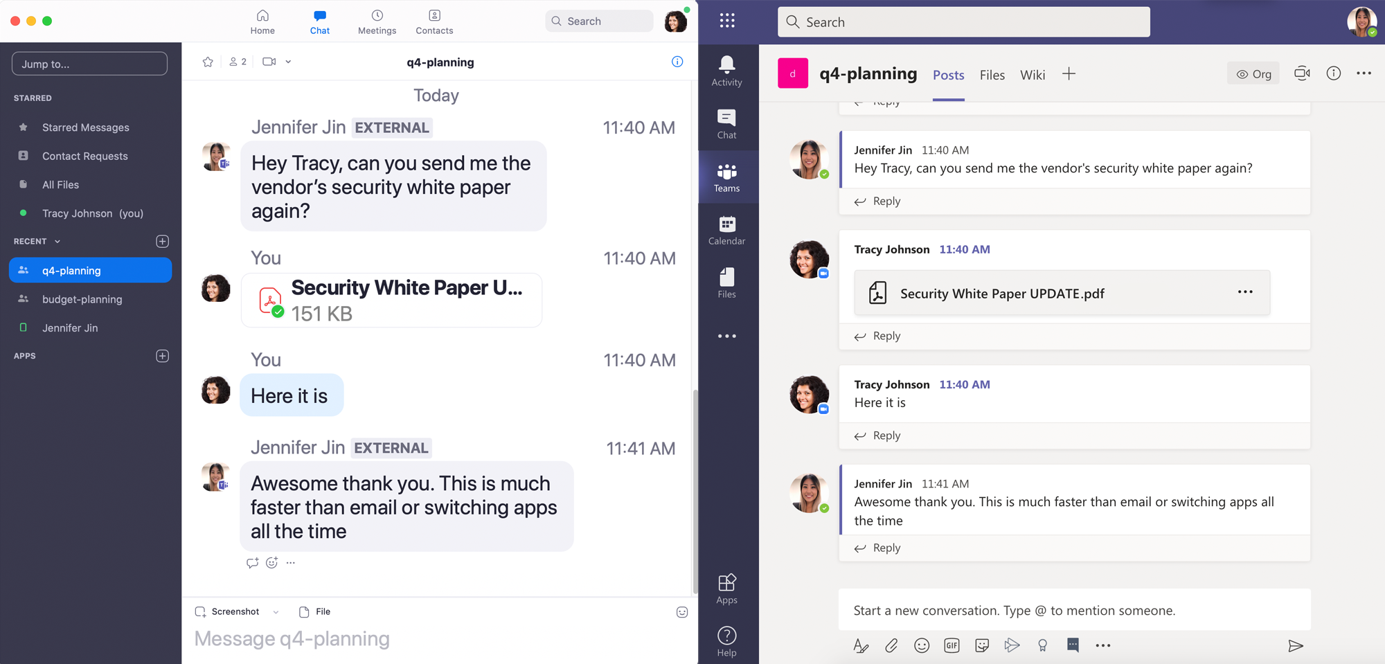 Microsoft Teams interop with Zoom Chat