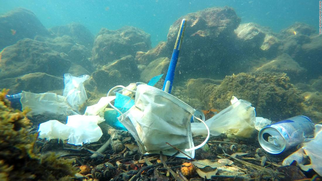 "Plastic pollution: Covid waste may result in ""more masks than jellyfish"" in  the sea - CNN"