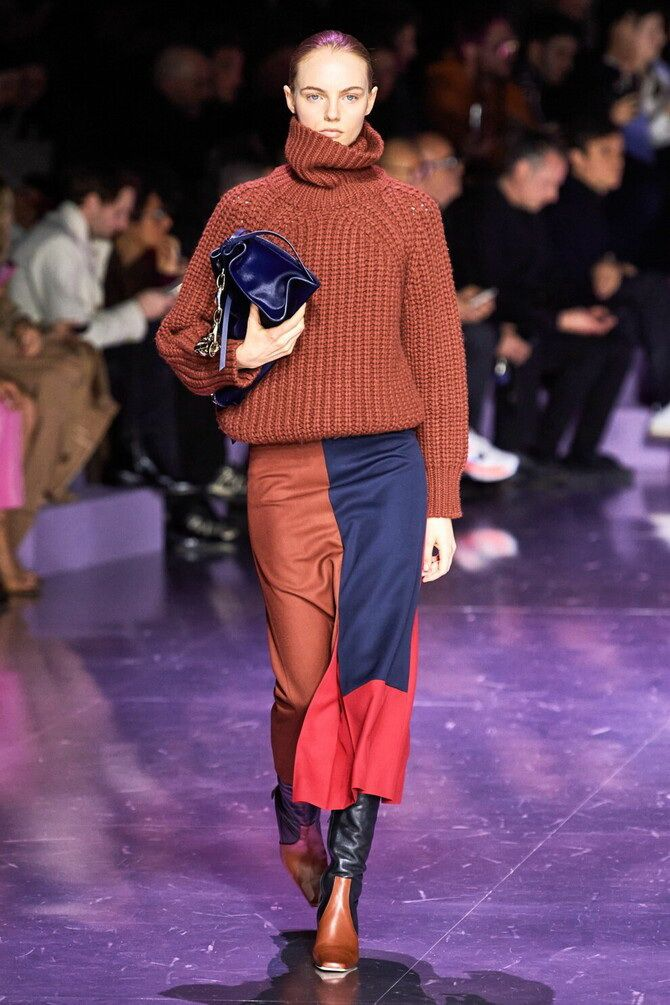 Sweater and a skirt: the most fashionable winter combinations 12