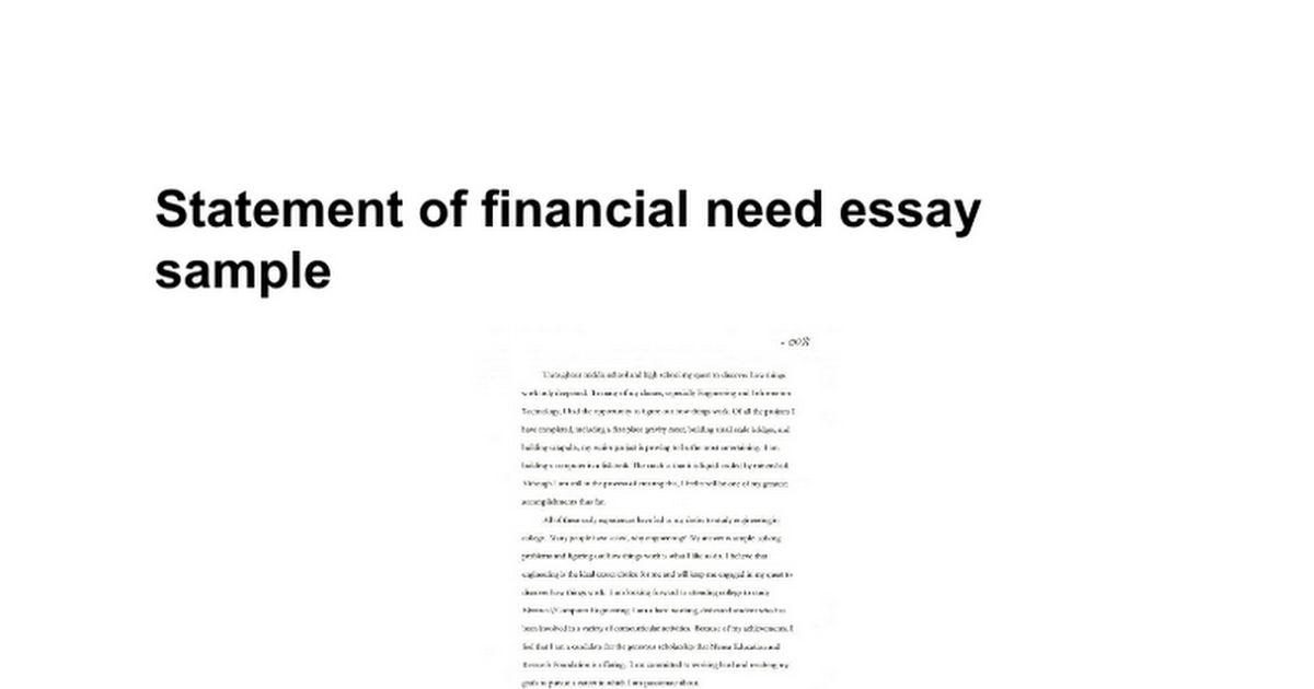 how to write a scholarship essay about financial need