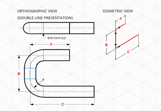Draw Pipings or the Isometric Drawing