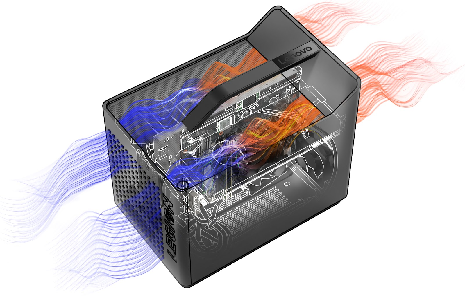 Фото 4. Компьютер Lenovo Legion C730 Cube (90JH001LUA)