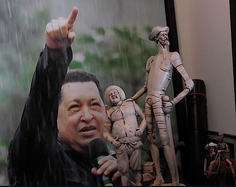 Chávez, el Quijote y Sancho acompañan a Jorge Giordani