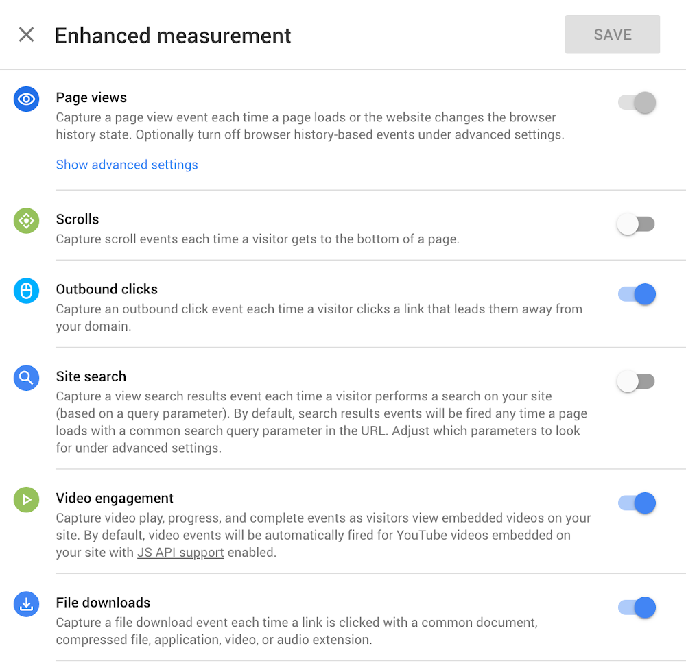 enhanced measurement google