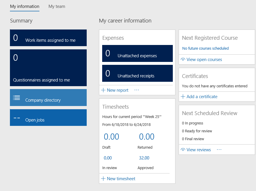 Timesheets Dynamics 365 finance and operations