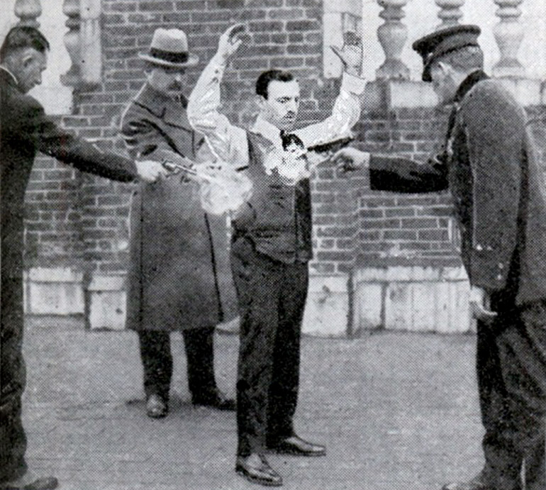 Casimir Zeglen during one of his public tests, photo: public domain