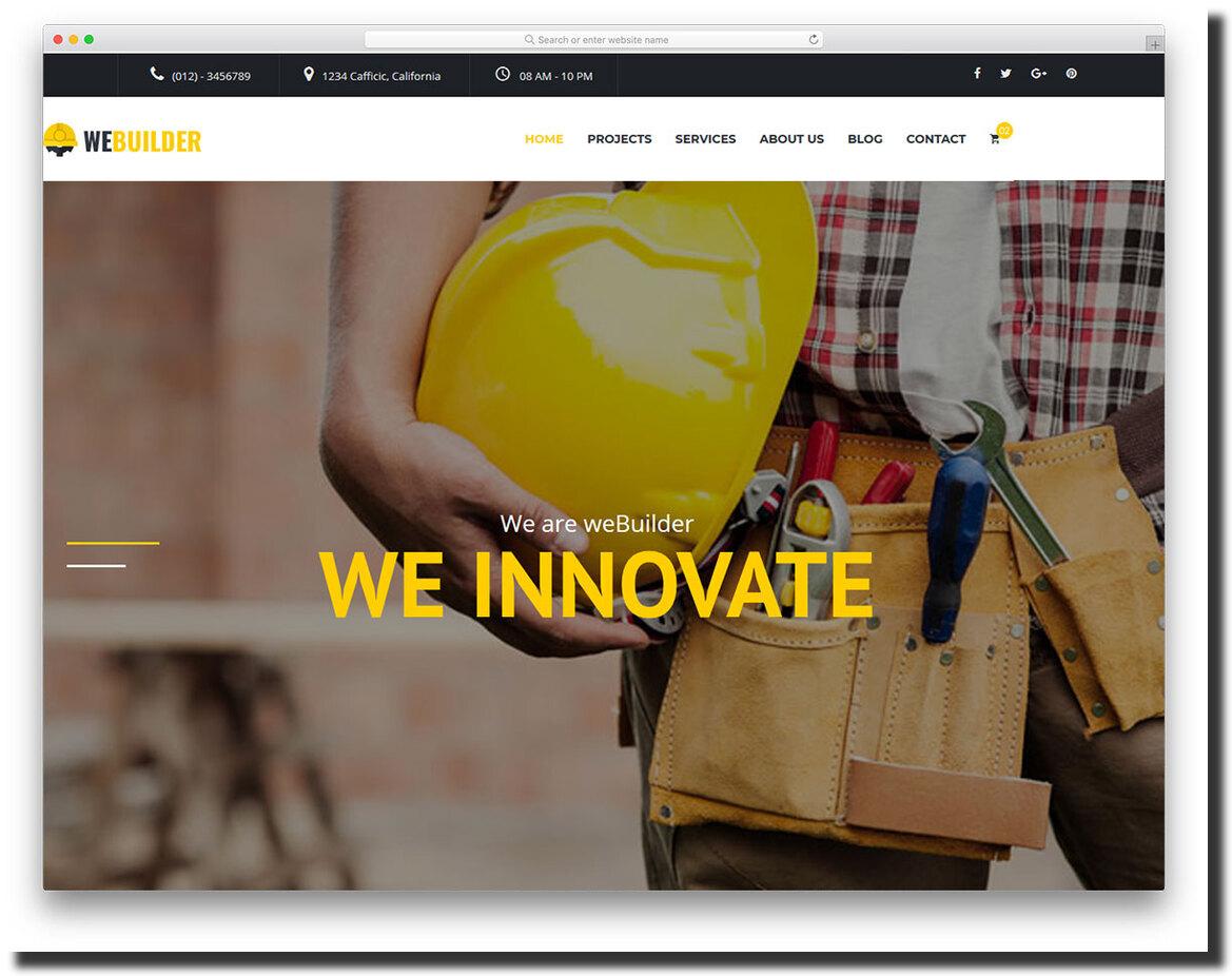 Webuilder website template