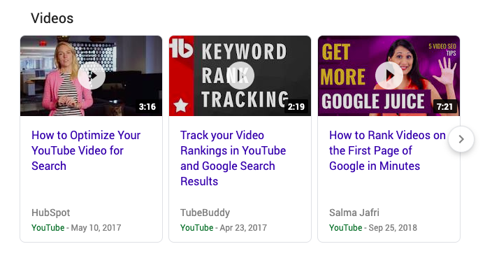 Example of YouTube videos on Google to help you use Google to tell your story