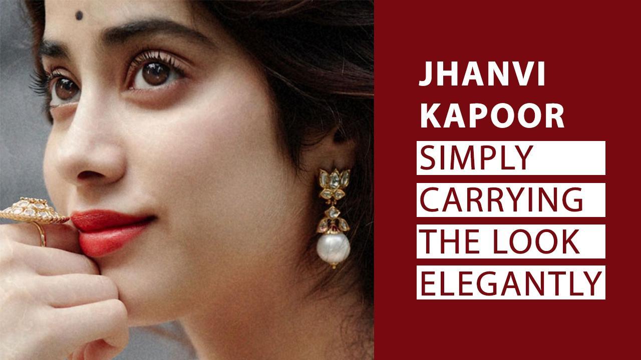 jhanvi kapoor earring