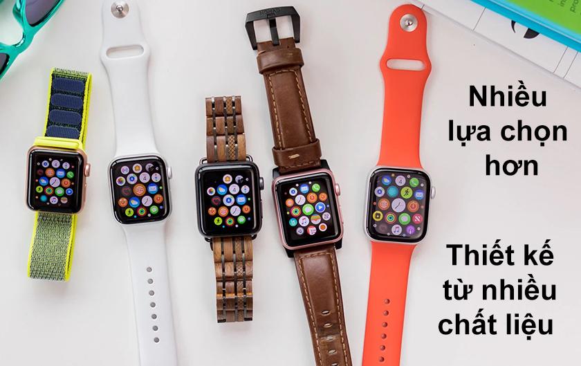 Thiết kế từ nhiều chất liệu mang đến nhiều sự lựa chọn hơn trên Apple watch series 6