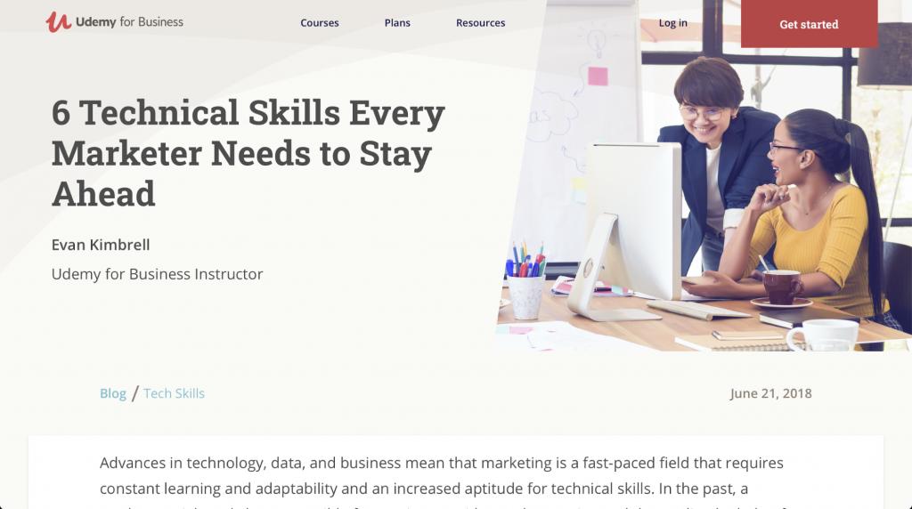 Sechs technische Fähigkeiten, die jeder Marketer braucht, um am Ball zu bleiben – Udemy