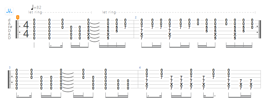 Guide to Open D tuning - Reo Speedwagon – Time For Me To Fly tab