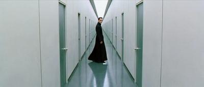 Matrix Reloaded - endless hallway of doors