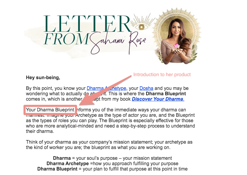 fourth email encouraging buying her book