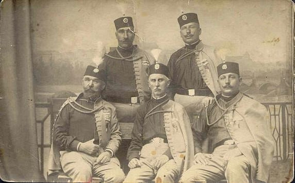 Group photographer of the Serbian officers who led the Black Hand.