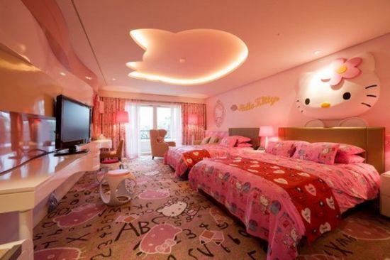 Trang Trí Phòng Ngủ Hello Kitty Siêu đáng Yêu Cho Mọi Lứa