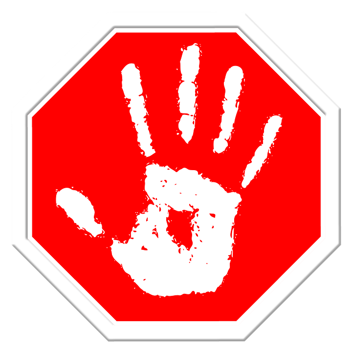 Free illustration: Stop, Hand, Finger, Containing, Off - Free ...