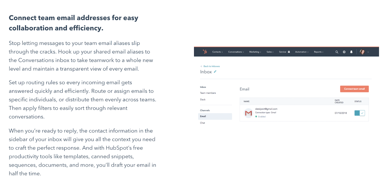 HubSpot conversations copy audit of their images