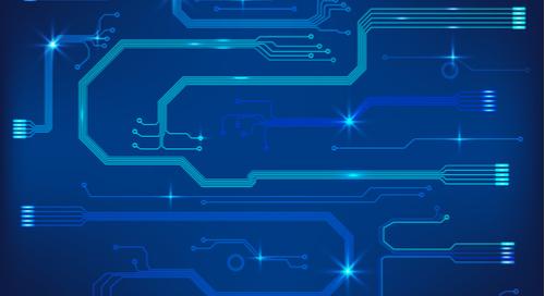 Blue circuit board design