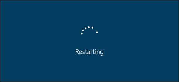 Windows restarting